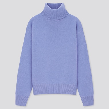 Women Premium Lambswool Turtleneck Jumper