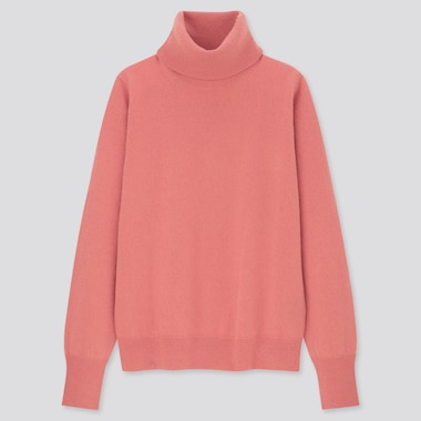 Women 100% Cashmere Turtleneck Jumper