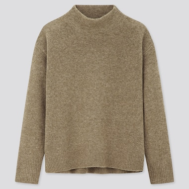 Women Soufflé Yarn High Neck Jumper