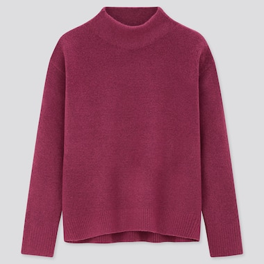 Women Soufflé Soft Knit High Neck Jumper