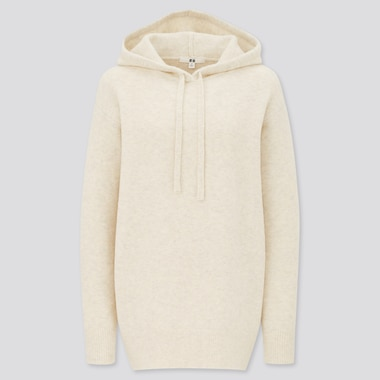 Women Soufflé Yarn Hooded Tunic