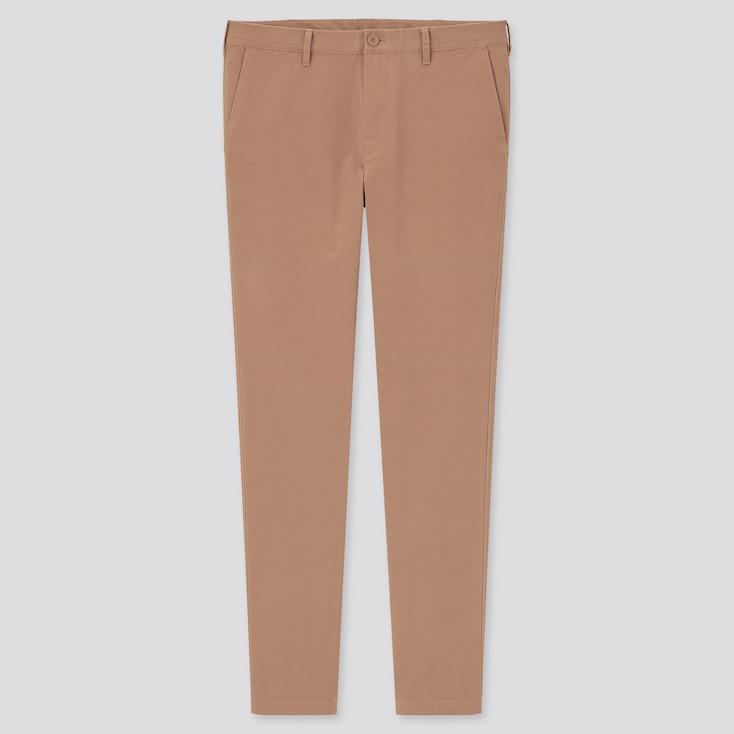 Men Skinny Fit 2-Way Stretch Chino Pants, Orange, Large