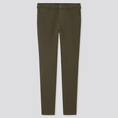 Men Skinny Fit 2-Way Stretch Chino Pants, Olive, Medium