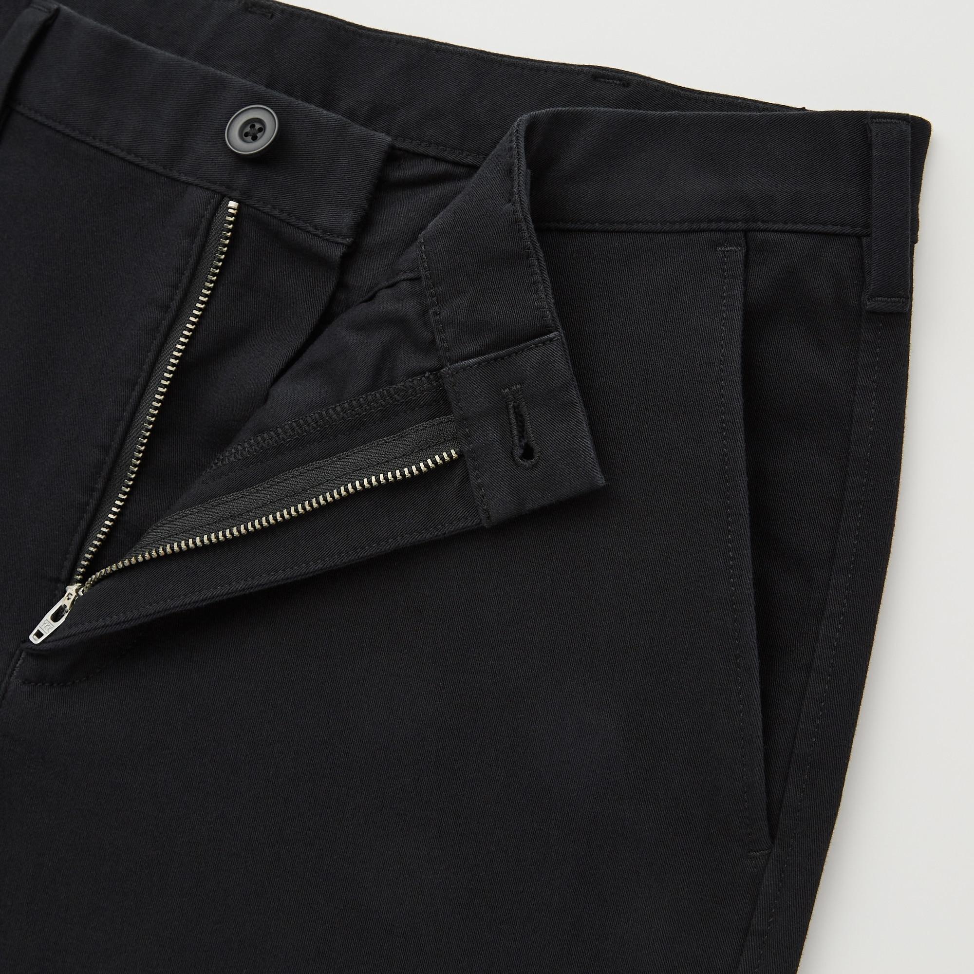 Pantalon Toile Chino Homme Coton Stretch Coupe Slim Skinny d/écontract/ée