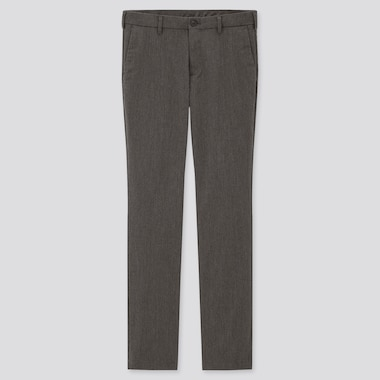 Men Slim-Fit Chino Pants, Gray, Medium