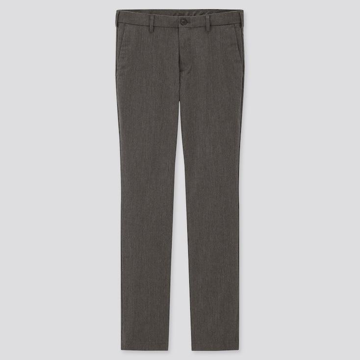 Men Slim-Fit Chino Pants, Gray, Large
