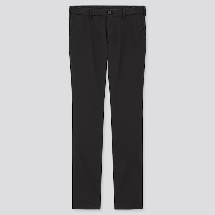 Men Slim-Fit Chino Pants, Black, Large