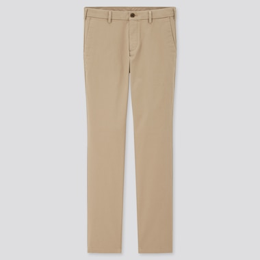 Men Slim-Fit Chino Pants, Beige, Medium