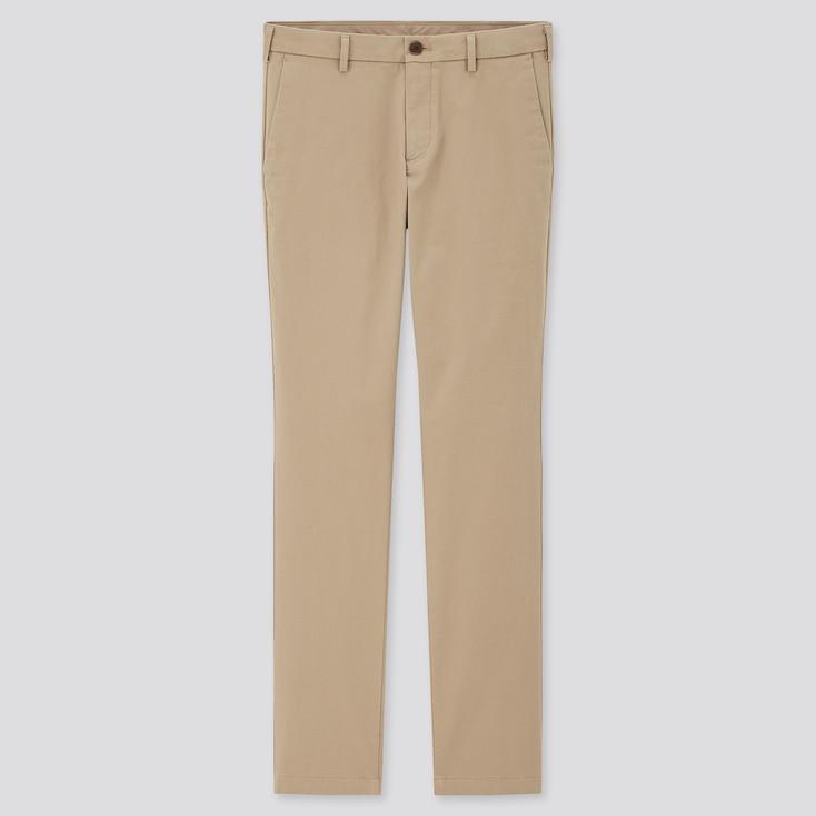 Men Slim-Fit Chino Pants, Beige, Large