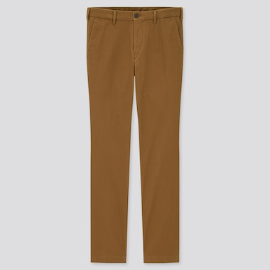 Men Slim-Fit Chino Pants, Brown, Medium