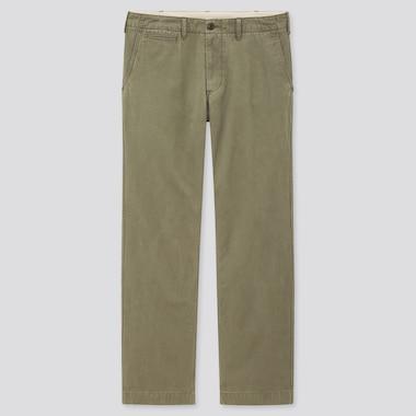 Men Vintage Regular-Fit Chino Pants, Olive, Medium