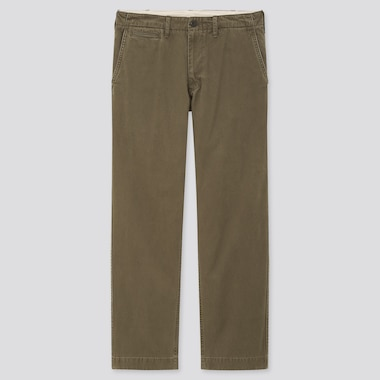 Men Cotton Vintage Regular Fit Chino Trousers