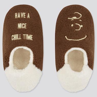 Women Peanuts Holiday UT Fleece Slippers