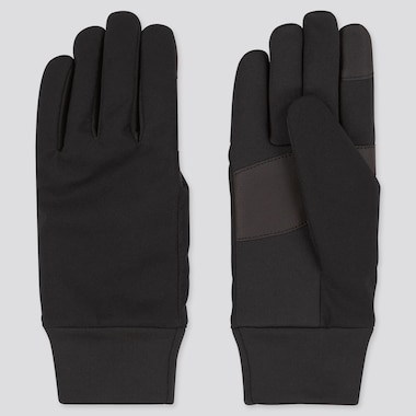 Women Heattech Function Gloves, Black, Medium