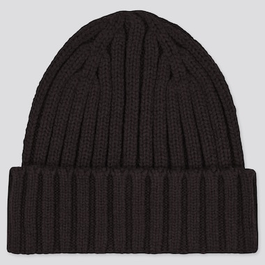 Heattech Knitted Cap, Black, Medium