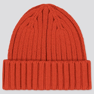 Heattech Knitted Cap, Orange, Medium