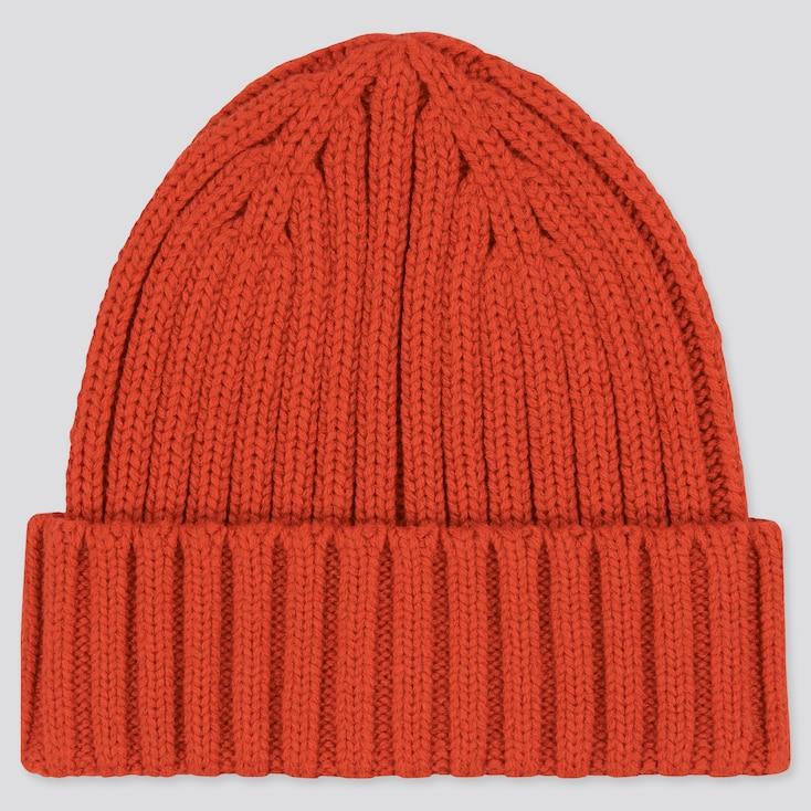 Heattech Knitted Cap, Orange, Large