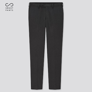 Men Smart Slim-Fit Pants, Dark Gray, Medium