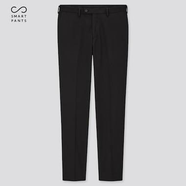 Men Smart Slim-Fit Pants, Black, Medium