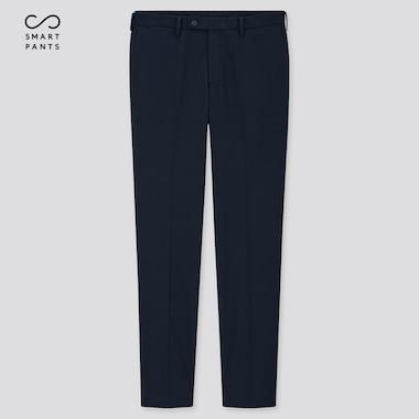 Men Smart Slim-Fit Pants, Navy, Medium