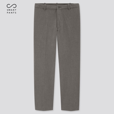 Men Smart 2-Way Stretch Ankle-Length Pants, Gray, Medium