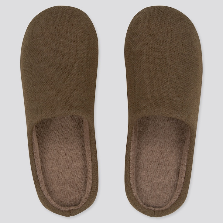 Slippers, Brown, Large