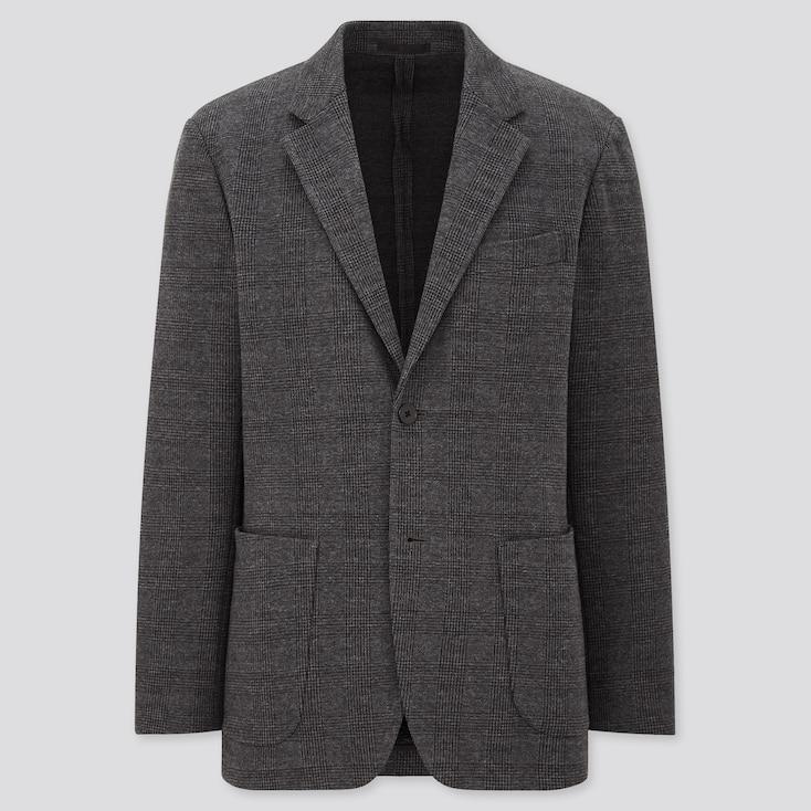 Men Comfort Jacket (Pattern), Gray, Large
