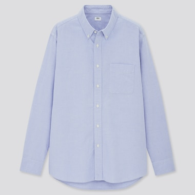 Men Regular Fit Oxford Shirt (Button-Down Collar)