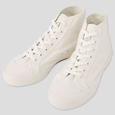 Cotton Canvas High Top Trainers