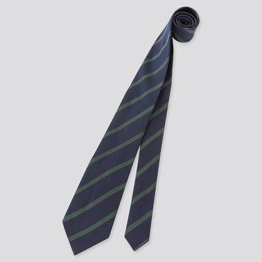 Men Silk Tie, Dark Green, Medium