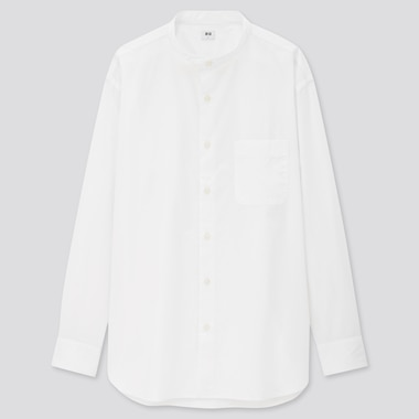Men Extra Fine Cotton Broadcloth Regular Fit Shirt (Grandad Collar)