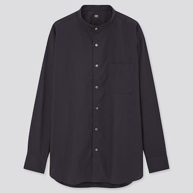Herren Hemd aus Extra feiner Baumwolle mit Stehkragen