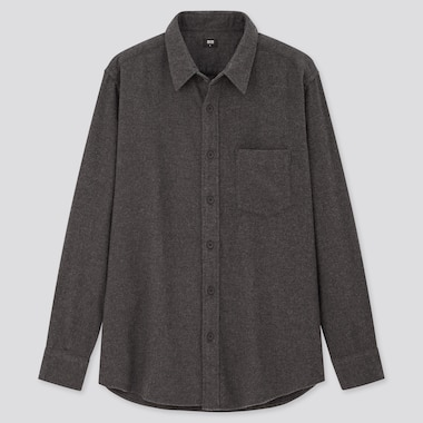 Men Flannel Regular Fit Shirt (Regular Collar)