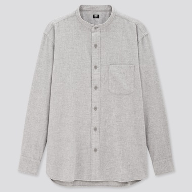 Men Flannel Regular Fit Shirt (Grandad Collar)