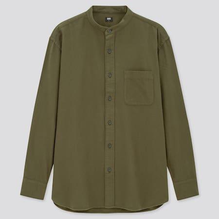 Flannel Regular Fit Shirt (Grandad Collar)