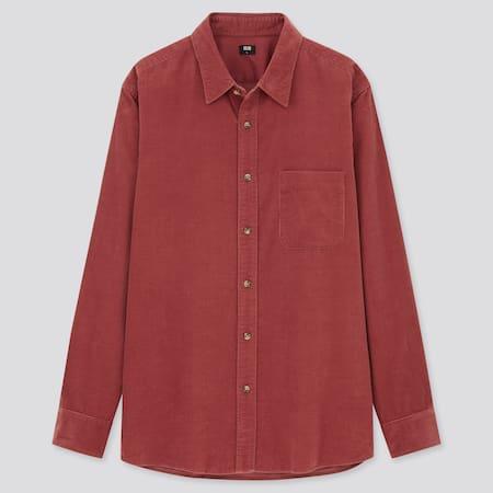 Men Corduroy Regular Fit Shirt (Regular Collar)
