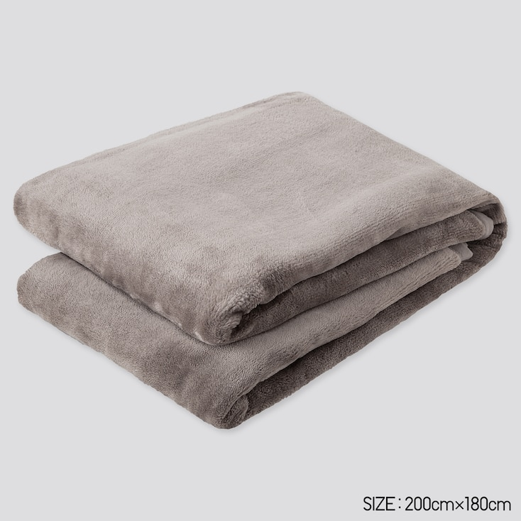 Heattech Full-Size Blanket (Online Exclusive), Gray, Large