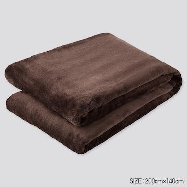 Heattech Twin-Size Blanket (Online Exclusive), Dark Brown, Medium