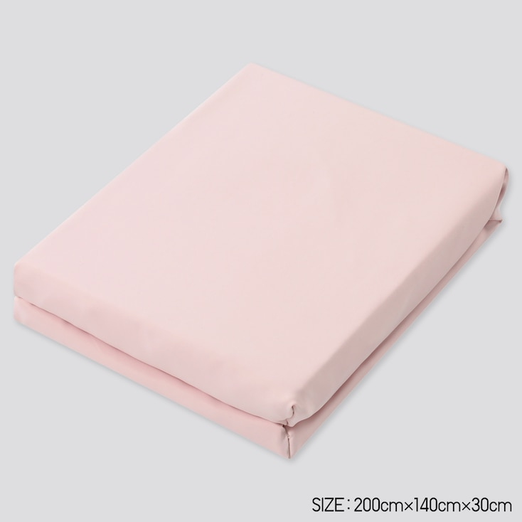 Airism Full-Size Fitted Bed Sheet, Pink, Large