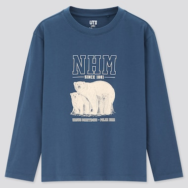 Kids Natural History Museum Ut (Long-Sleeve Graphic T-Shirt) (Online Exclusive), Blue, Medium