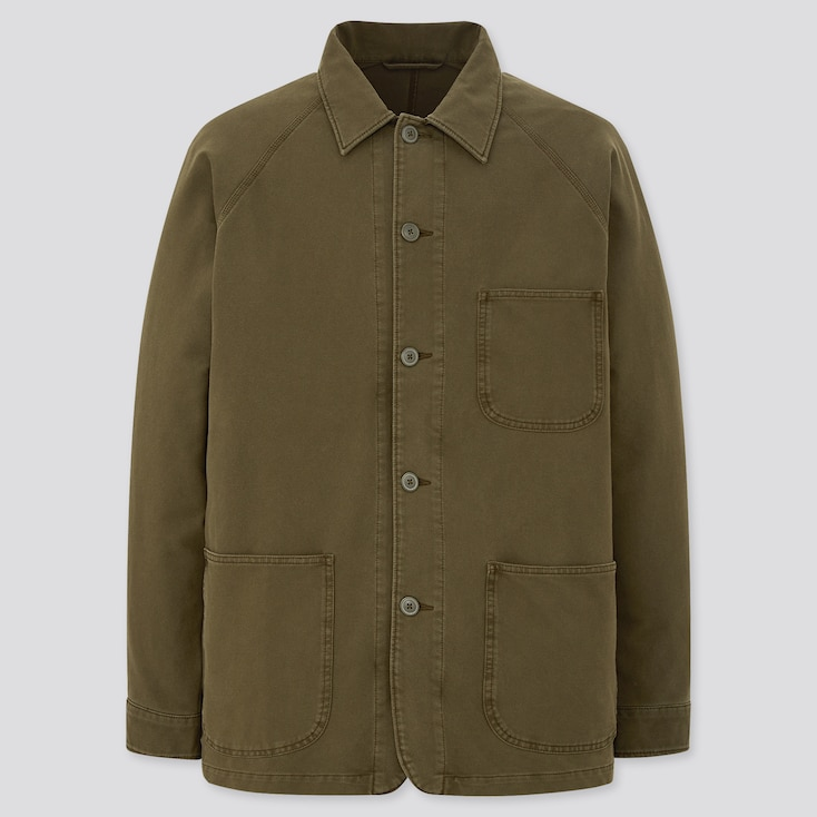 Men's Vintage Jackets & Coats MEN WASHED JERSEY WORK JACKET $39.90 AT vintagedancer.com