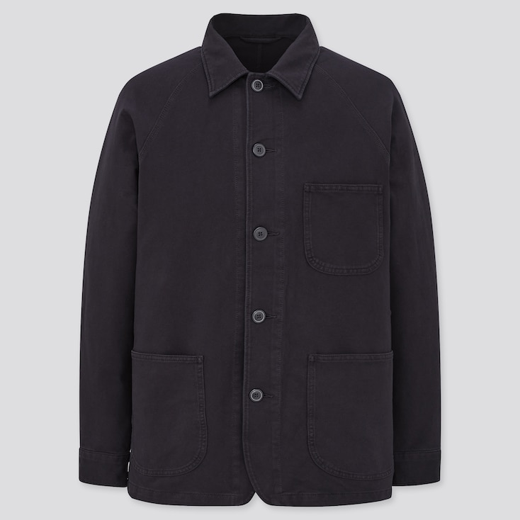 Men's Vintage Workwear – 1920s, 1930s, 1940s, 1950s MEN WASHED JERSEY WORK JACKET $39.90 AT vintagedancer.com