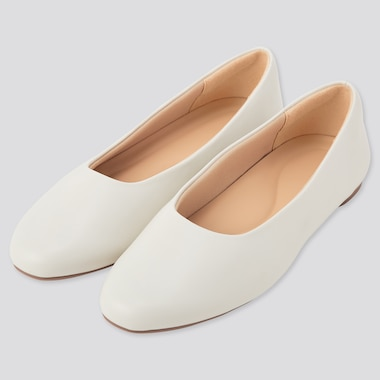 Women Comfort Feel Touch Round Shoes, Off White, Medium