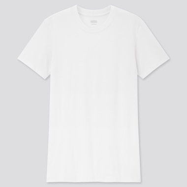 Men Heattech Crew Neck Short-Sleeve T-Shirt, White, Medium