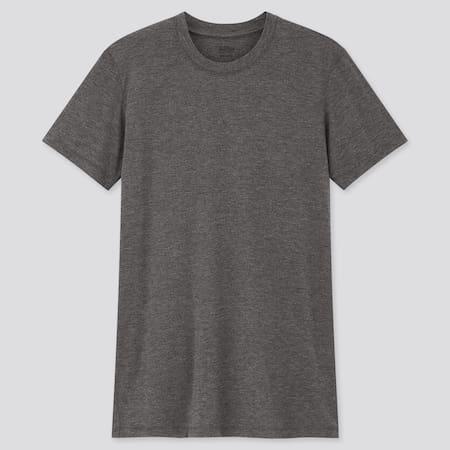 Men HEATTECH Jersey Crew Neck Short Sleeved Thermal T-Shirt