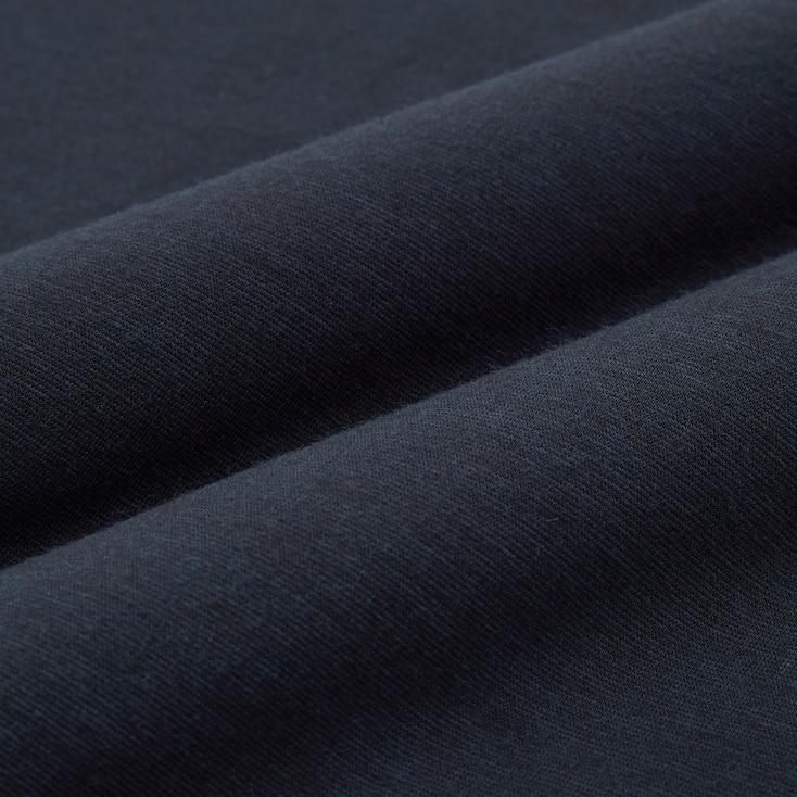 Men Heattech Crew Neck Long-Sleeve T-Shirt, Black, Large