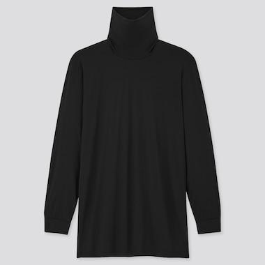 Men Heattech Turtleneck Long-Sleeve T-Shirt, Black, Medium