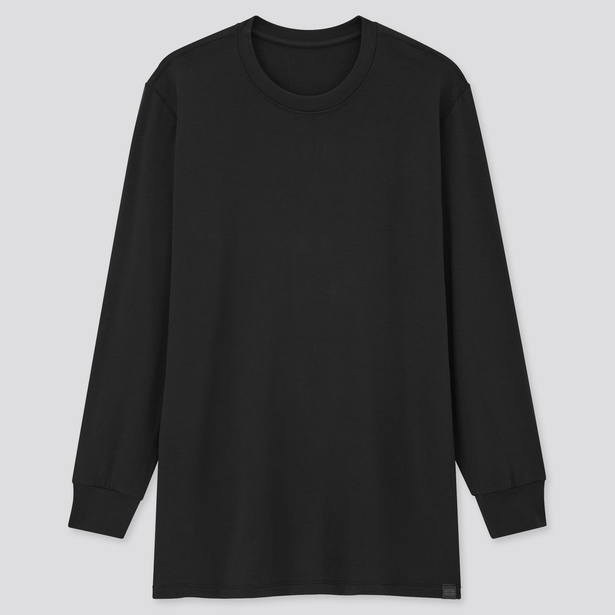 men HEATTECH extra warm crew neck long sleeve t-shirt