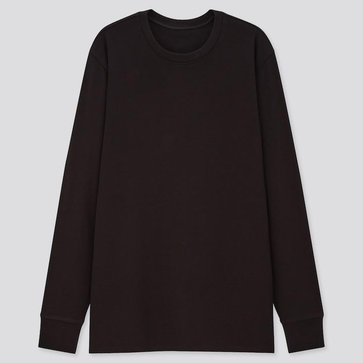 Men Heattech Ultra Warm Long-Sleeve T-Shirt, Black, Large