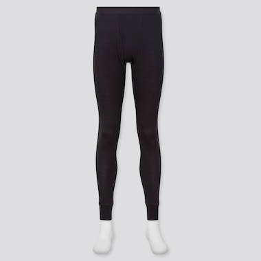 Men Heattech Long Johns, Black, Medium